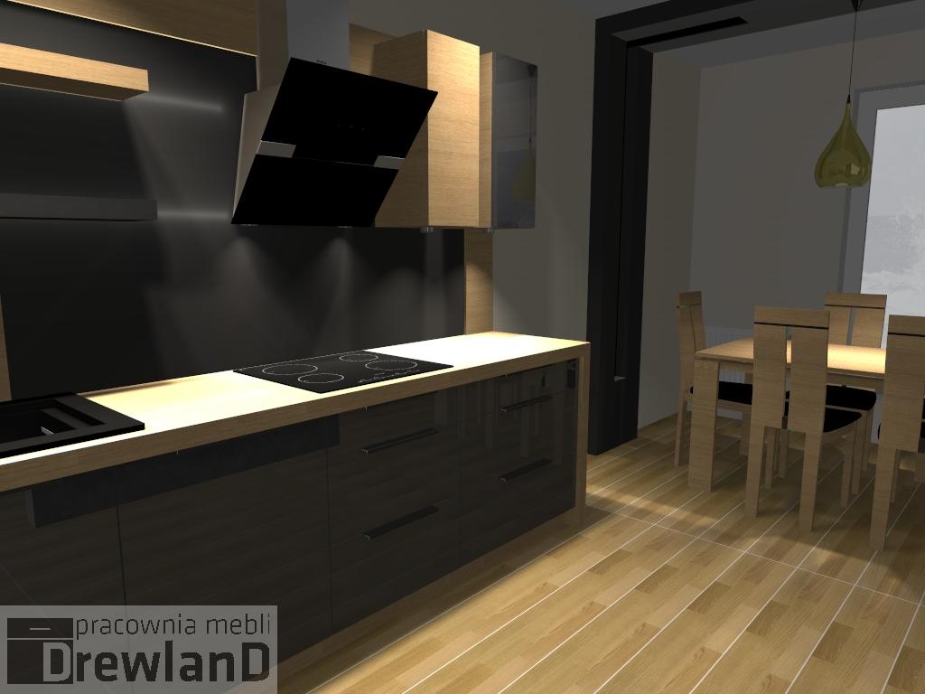 Kuchnia z jadalnia  Drewland pl -> Nowoczesna Kuchnia Polączona Z Jadalnią