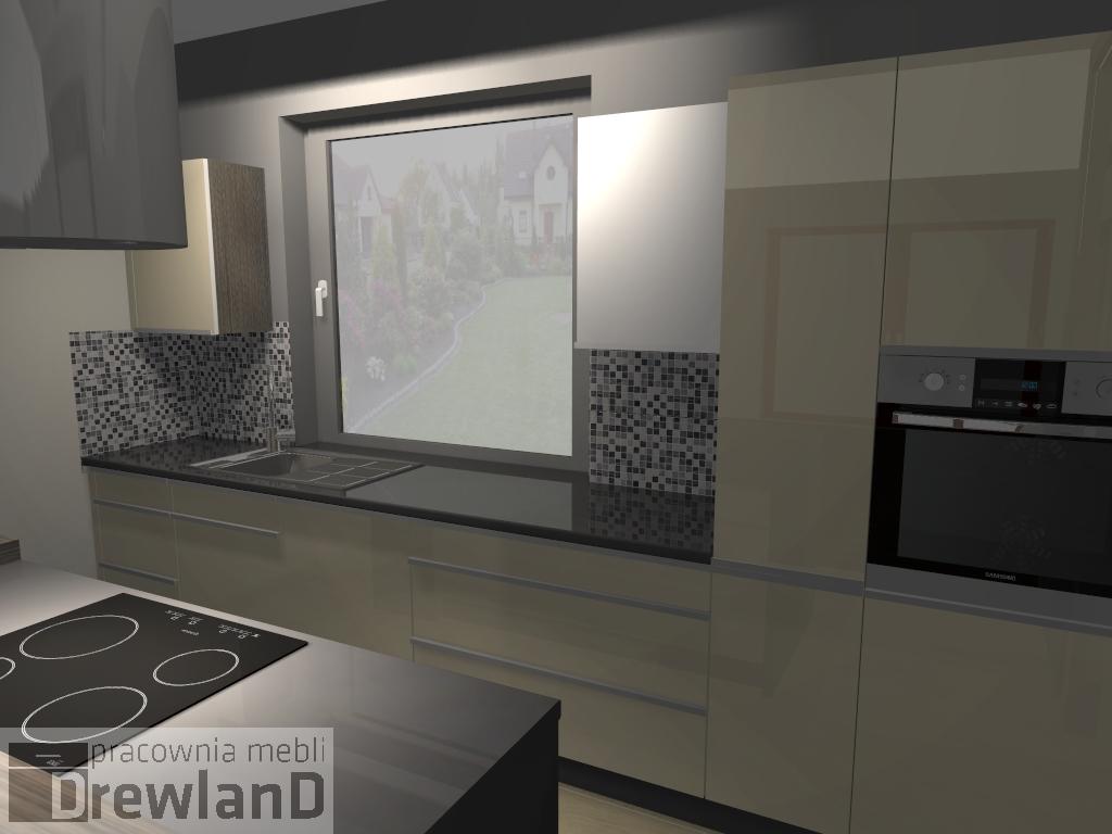 Nowoczesna Kuchnia Z Blatami Metalicznymi Drewlandpl