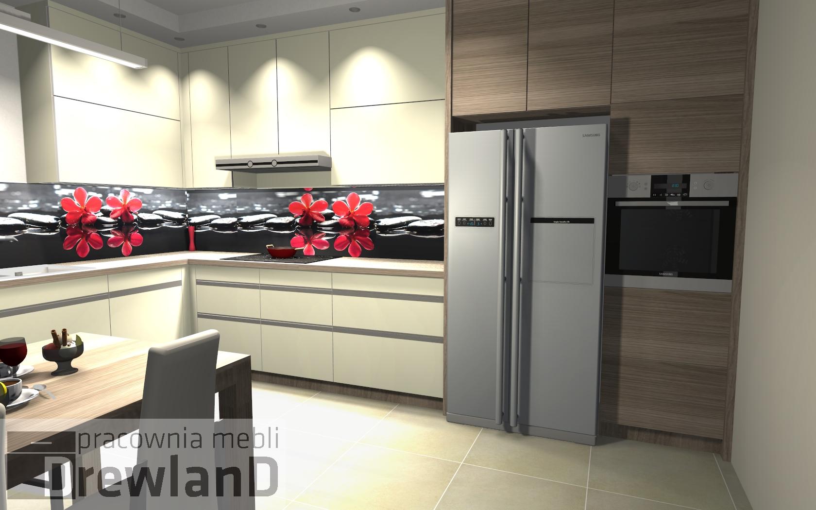 Wysokie szafki w kuchni  Drewland pl -> Kuchnia Biala Szafki Do Sufitu