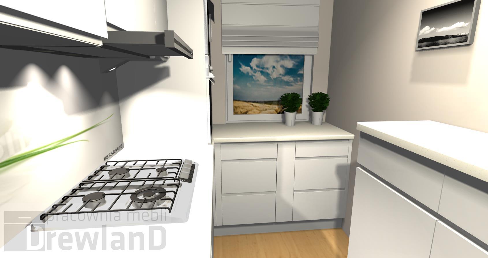 Wąska kuchnia w bloku  Drewland pl -> Dluga Wąska Kuchnia W Bloku