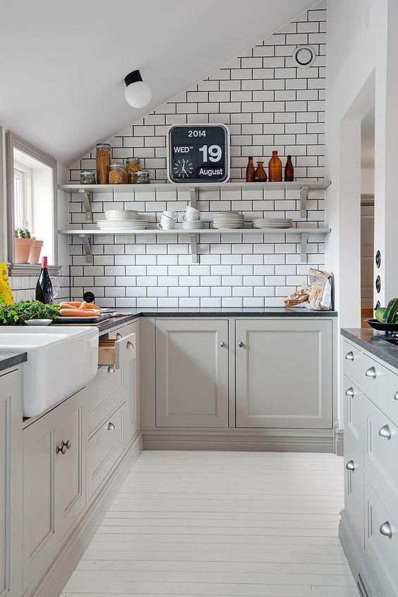Cegły w kuchni