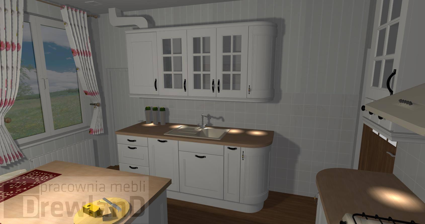 Kuchnia w stylu skandynawskim  Drewland pl