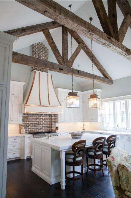 Design w kuchni drewnianej