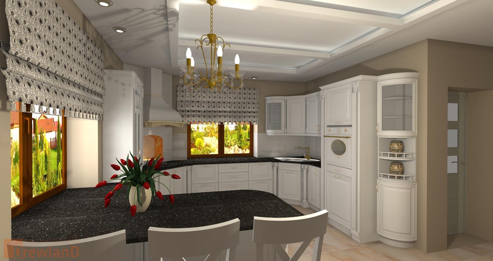 Meble kuchenne, meble dedykowane, projektowanie  Drewland  -> Kuchnia Drewniana Krakpol
